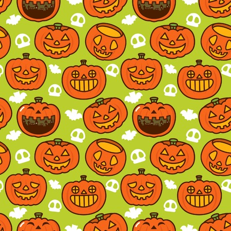 Halloween Pumpkin Pattern Illustration