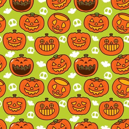 Halloween Pumpkin Pattern Vector