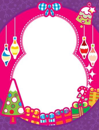 Fondo de marco de Navidad con caja de regalo  Foto de archivo - 8084923