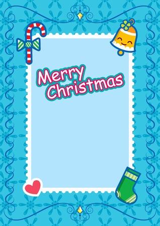 Christmas Frame  Background Vector