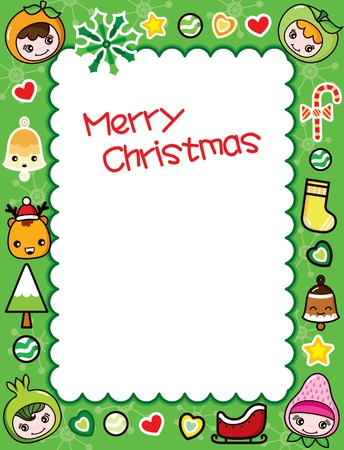 Christmas Frame Background 5
