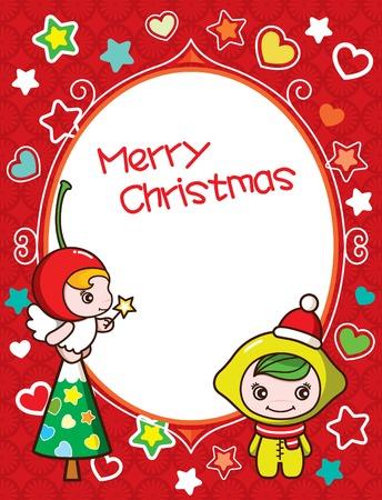Christmas Frame Background 3 Vector