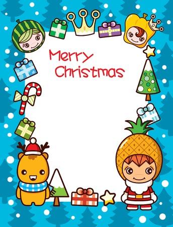 corona navidad: Fondo de marco de Navidad 1