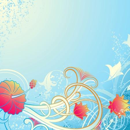 Grunge Floral Background 1