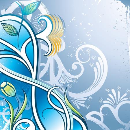 Grunge Floral Background 3