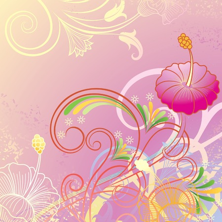 Grunge Floral Background 4 Illustration