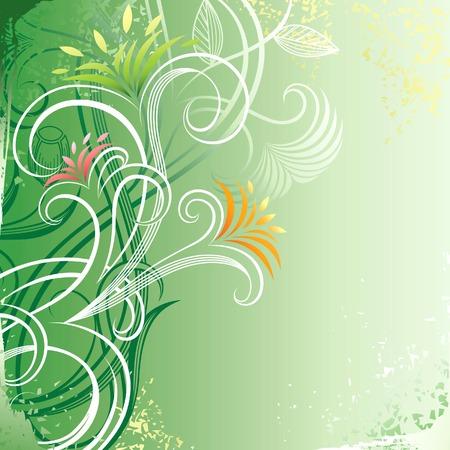 Grunge Floral Background 5