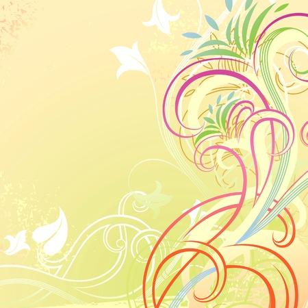 Grunge Floral Background 6