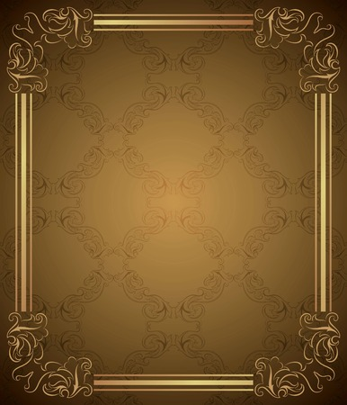Vintage Floral Frame Background  Illustration