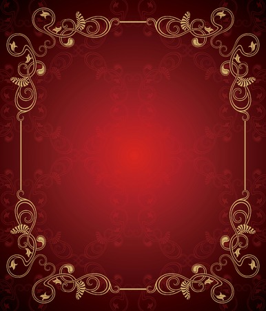 Vintage Floral Frame Background  Vector