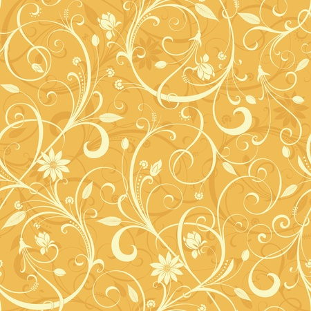 Seamless Floral Scroll Pattern 3