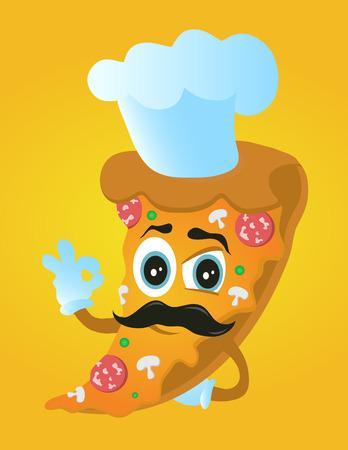 Pizza chef cook Ilustracja