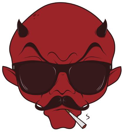 bad hipster devil Imagens - 60183809