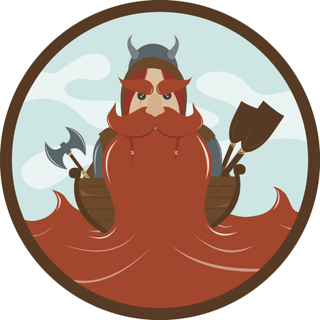 drifting: Viking with a beard