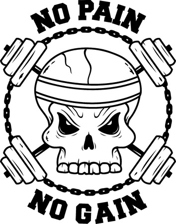 skull and rods