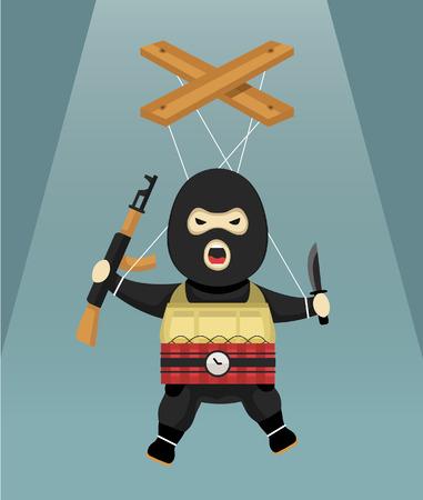 extremist: terrorist-puppet flat