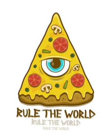pizza with mason eye Ilustracja