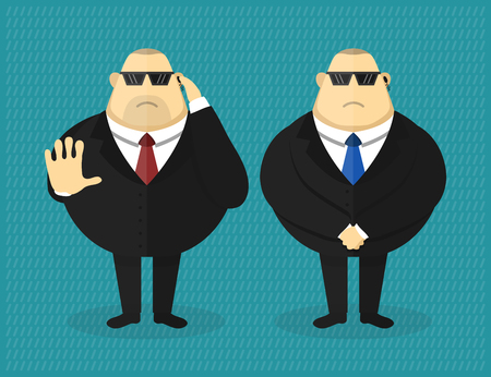 brawny: Security guard character vector flat illustration