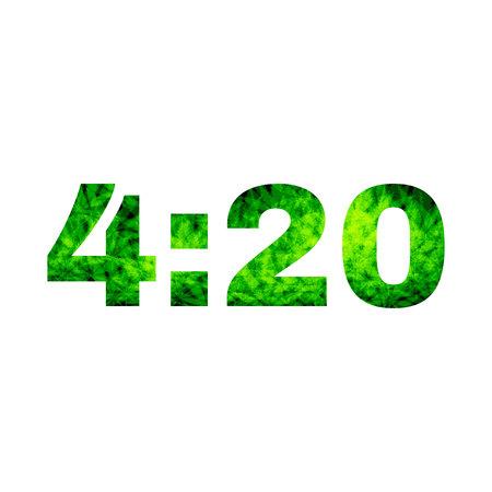 reefer: 4:20 marijuana abstract design