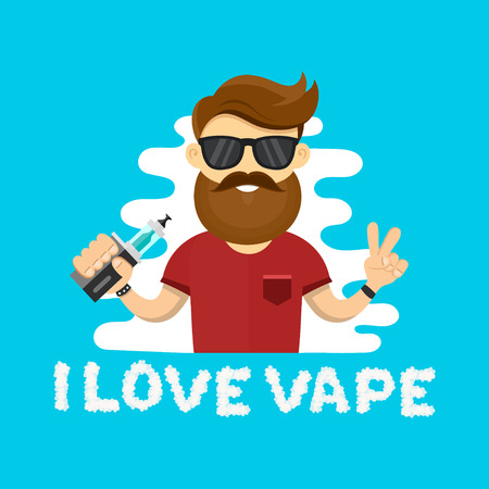 background e cigarette: vape addiction Illustration