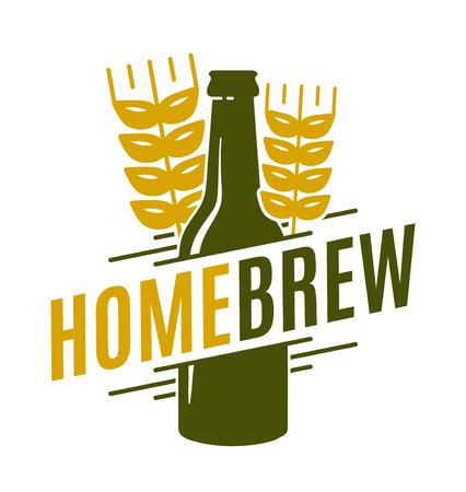 Homebrew vector logo template emblem design illustration
