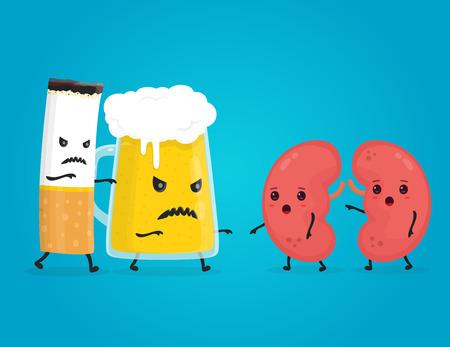 alcohol and smoke damage kidneys