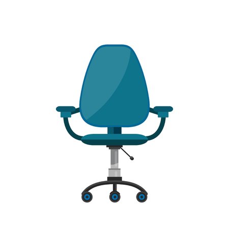 Office chair. Vector flat cartoon illustration icon design. Isolated on white background