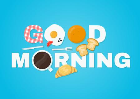 good morning concept vector illustration icon Illustration
