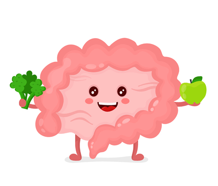 Strong healthy happy Intestine character.