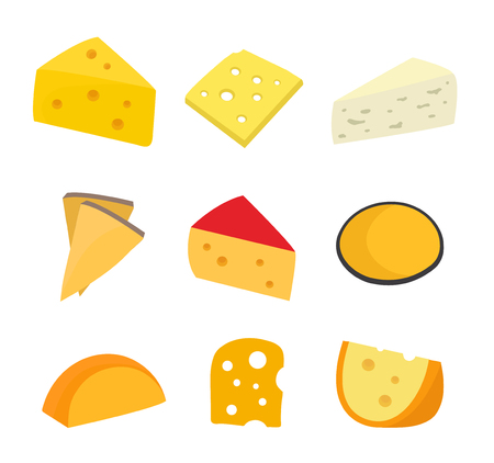 Different cheese illustration.