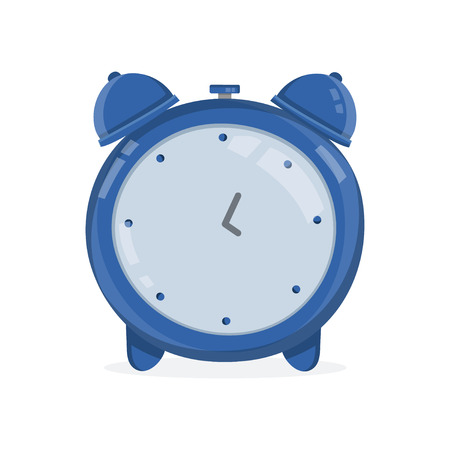 Vintage alarm clock. Vector modern flat style cartoon character illustration.Isolated on white background. alarm clock concept