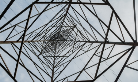 lifeblood: Electricity transmission equipment, the lifeblood of the modern social development and industrial development of the necessary conditions.  Stock Photo