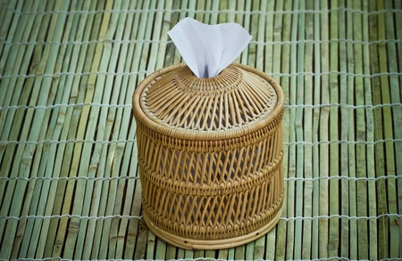 Boxes of toilet paper made from bamboo.   photo