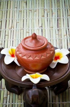 Frangipani flower style spa. photo