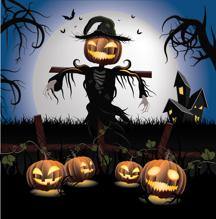Halloween Scarecrow Illustration
