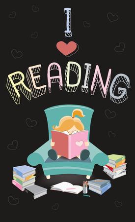 magazine stack: I Love Reading