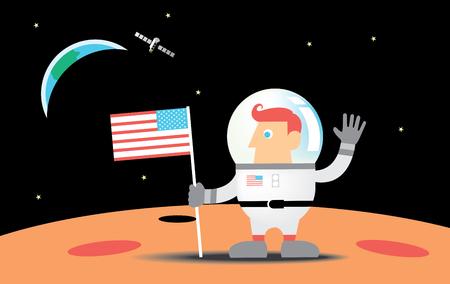 moon: astronaut on the moon