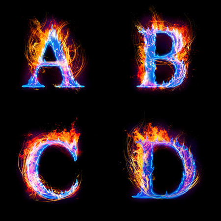 fire and ice: Fire and ice text,capital letter,alphabet from A to D