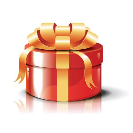 eventos especiales: Regalo de lujo rojo sobre fondo blanco para cumplea�os, Navidad, A�o Nuevo y eventos especiales