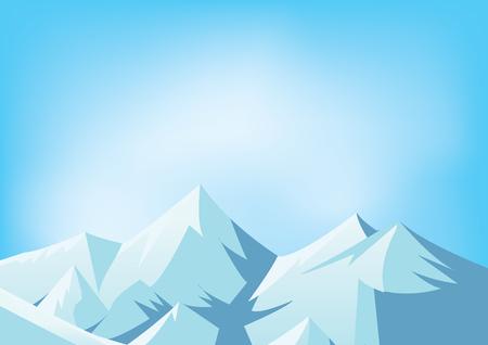 peaks: Snowy mountains