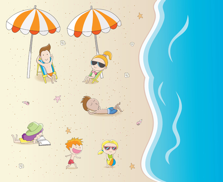 Summer holiday on the beach Vector