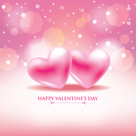 february 14th: Happy Valentines Day Pink background