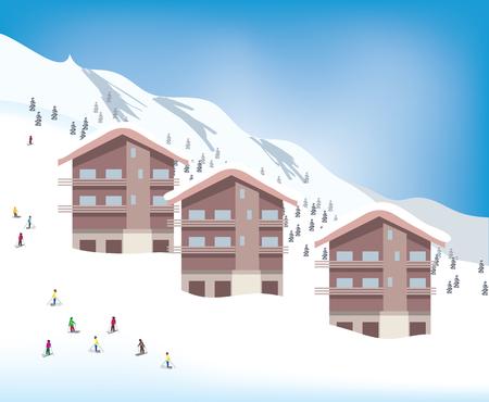 ski resort: Winter holiday at ski resort
