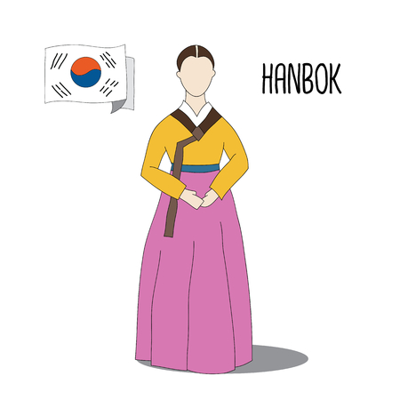 hanbok: Traditional Korean dresscostume - Hanbok is the traditional outfit of the Korean people