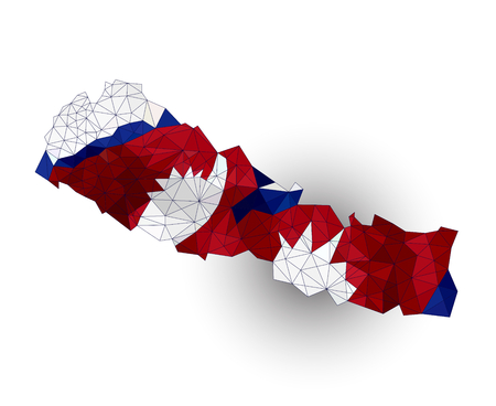 nepal: Low poly map of Nepal Illustration