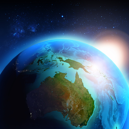 earth map: Australia seen from space Stock Photo