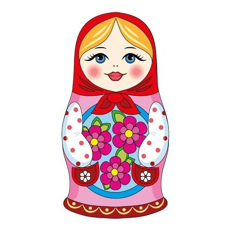 ロシアの人形  イラスト・ベクター素材