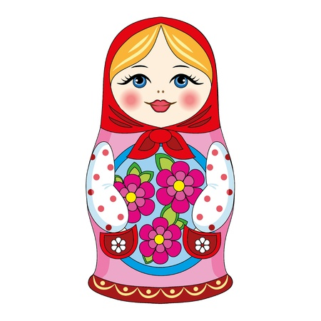 small group of object: Russian doll