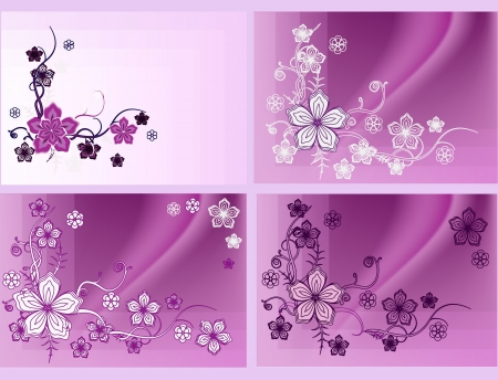 floral pattern with space for writing Vector