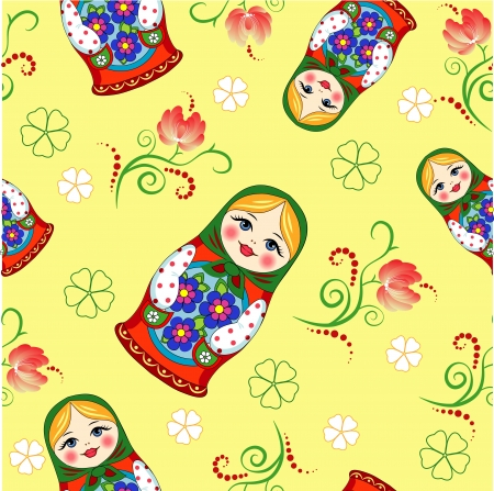 simplex doll on a yellow background Vector
